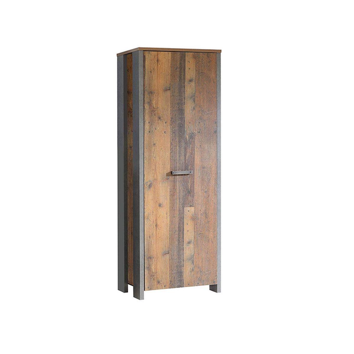 Garderobenschrank Newcastle In Old Wood Vintage Nachbildung
