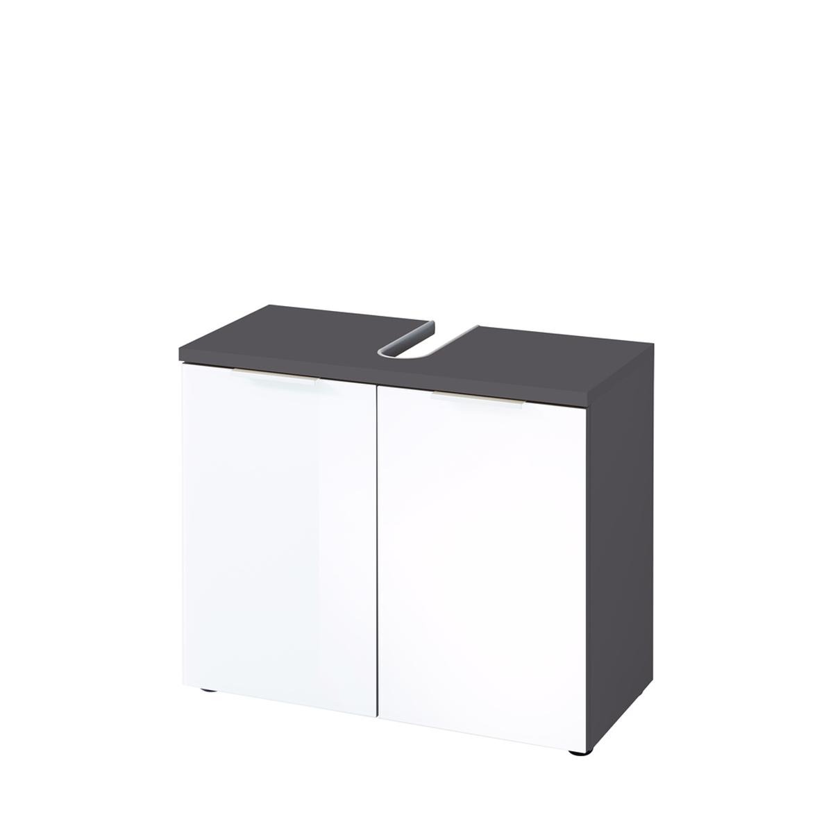 Germania Pescara Waschbeckenunterschrank 2752-569 im Dekor Graphit / Weiß