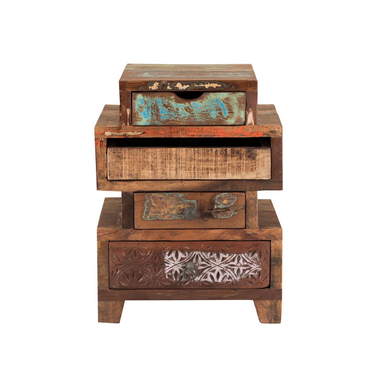 Kommode Reclaim 1003..1 aus Massivholz im Vintage-Style Holzmöbel
