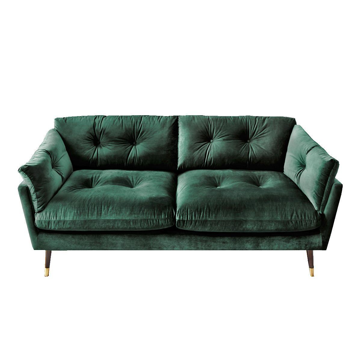 Vintage Sofa Bezug Riviera dunkelgrün