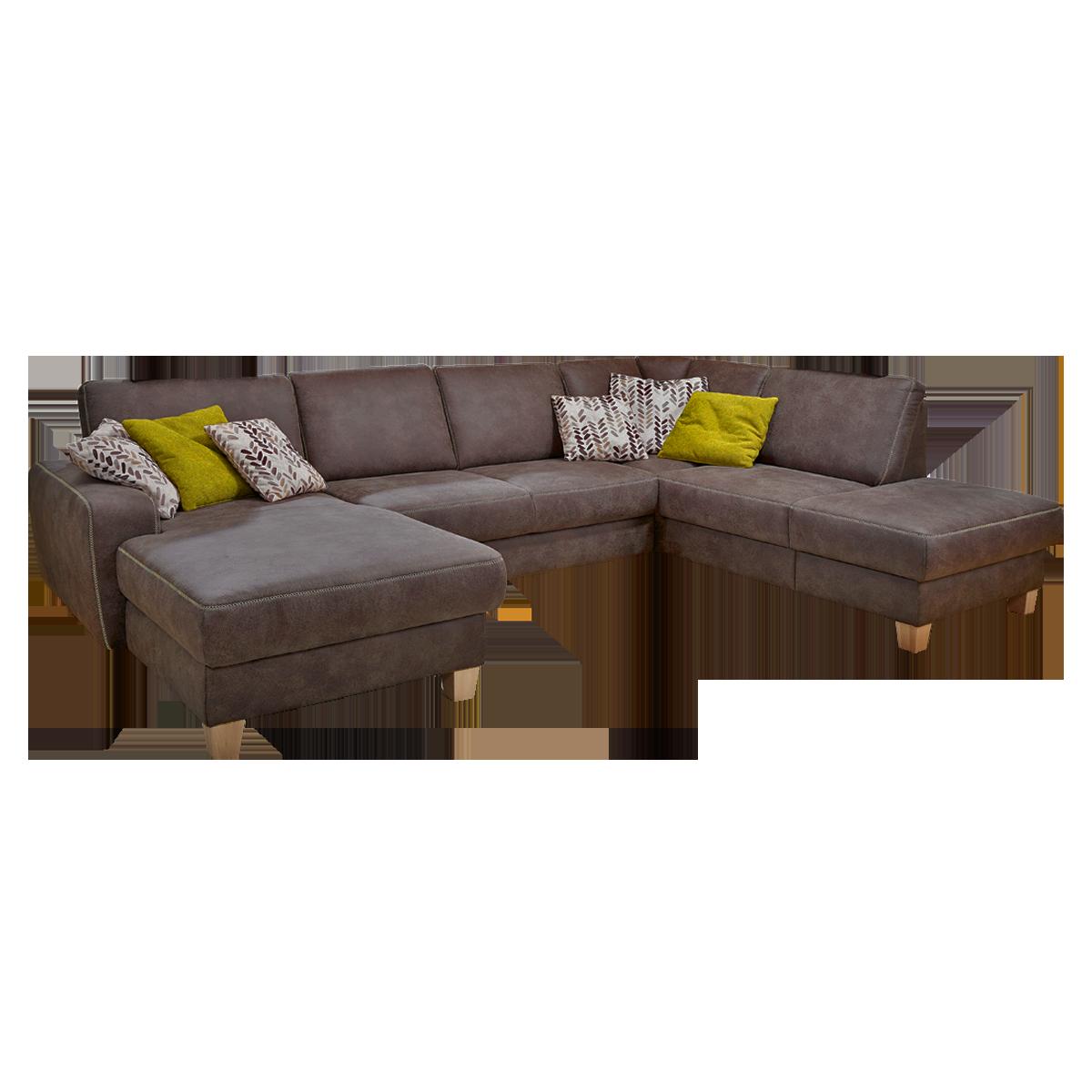 Swell Sofa Verona Wohnlandschaft Mit Ottomane Rechts Bezugsfarbe Braun Machost Co Dining Chair Design Ideas Machostcouk