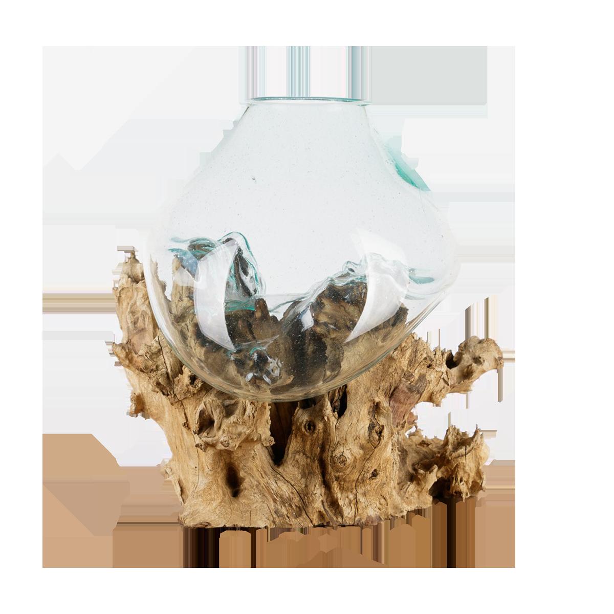 Dekowurzel Drop no.6 Glasgefäß in Tropfenform Wohnraumdekoration